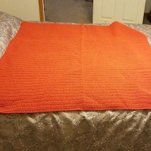 New handmade lap afghan -burnt orange